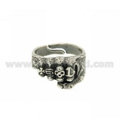 HAND RING WITH RINGS IN AG BRUNITO TIT 925 ‰ ADJUSTABLE SIZE