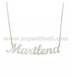 ROLO NECKLACE WITH NAME IN AG RHODIUM TIT 925
