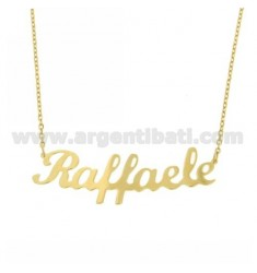 ROLO NECKLACE WITH NAME IN AG GOLD PLATED TIT 925