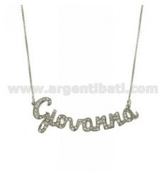 VENETIAN CHAIN CM 45 NAME WITH RHODIUM-PLATED AG TIT 925 ‰ RHINESTONES