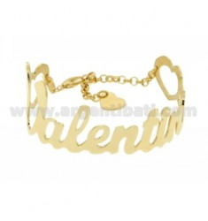A SLAVE BRACELET GOLD PLATED NAME IN AG TIT 925