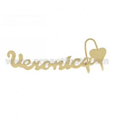 EARRING MONO HEADSET WITH HEART AND NAME IN AG TIT appeased GOLD 925