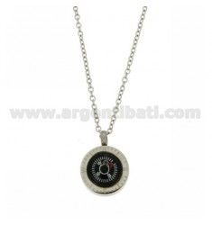 COMPASS STEEL PENDANT WITH CHAIN &8203&8203CABLE 50 CM