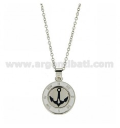 Pendant ANCHOR 20 MM GLAZED STEEL CABLE WITH CHAIN 50 CM