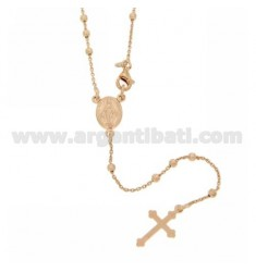 ROSARY NECKLACE WITH CABLE BALL faceted 2.5 MM 50 CM SILVER TITLE 925