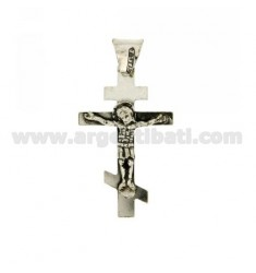 35X21 MM CROSS PENDANT IN AG casting BRUNITO TIT 800 ‰