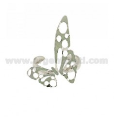 BANGLE BRONZE BUTTERFLY MEDIA RHODIUM