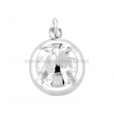 PENDANT ANGELS CALL 23 MM IN RHODIUM AG 16 MM