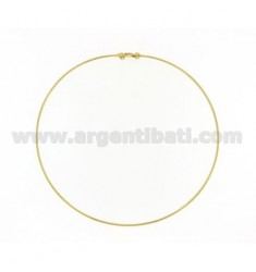 GOLD PLATED NECKLACE DRIVE IN SILVER 1.5 MM TIT 925