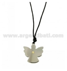 ANGEL PENDANT STEEL WITH POINT OF BRASS AND GOLD Bilamina