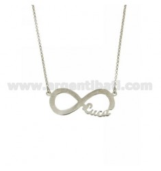 ROLO NECKLACE WITH INFINITE CENTRAL WITH NAME IN AG RHODIUM TIT 925 ‰ CM 45