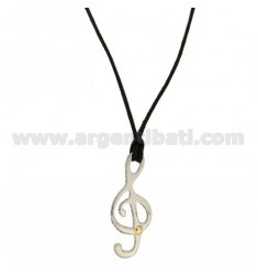 KEY CHARM VIOLIN 32x12 MM STEEL WITH POINT Bilamina BRASS AND GOLD SILK WITH NECKSTRAP CERATA