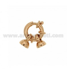 INT. SPRING RING Ø 8 Ø 3 TUBE WITH Ø 8 CUP IN ROSE GOLD PLATED SILVER TIT. 925 ‰