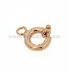 6 RING SPRING BARREL ROUND MESH SALD 3.AP.AG IN ROSE GOLD PLATED TIT 92.5