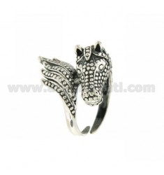 DRAGON RING SIZE ADJUSTABLE AG BRUNITO TIT 925
