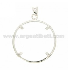 FRAME FOR 29 MM COINS INSIDE LIT 500 SILVER SILVER 925 ‰