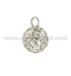 PENDANT 18 MM WITH ANGELS TALK CHILDREN IN PERFORATED AG RHODIUM TIT 925
