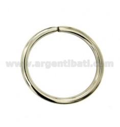 HOOK PORTACHIAVI BRISE &39ROHR ROUND 3x2,5 mm Durchmesser 30 mm Silber TIT 925