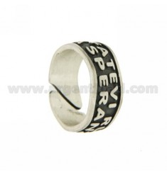 RING SIZE ADJUSTABLE WITH SENTENCE FRANCIS POPE, DO NOT BE IN ... AG BRUNITO TIT 925