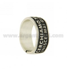 RING SIZE ADJUSTABLE SENTENCE WITH POPE JOHN XXXIII, LOOKING IN ... AG BRUNITO TIT 925