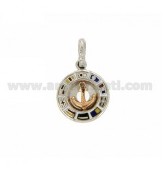 STILL PENDING WITH ROUND PINK GOLD PLATED SILVER RHODIUM TIT 925 ‰ AND POLISH