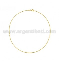ROUND NECK 1,5 MM JOINTED WITH 3 PIECES IN SILVER GOLD PLATED TIT 925