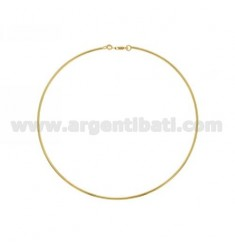 GIROCOLLO RIGIDO MM 2 IN ARGENTO PLACCATO ORO TIT 925