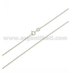 CABLE CHAIN MM 1,4 CM 60 IN SILVER RHODIUM-PLATED 925 ‰