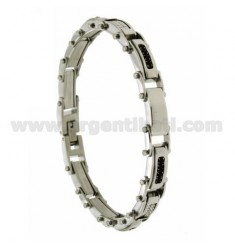 STAINLESS STEEL BRACELET WITH ZIRCONIA centered