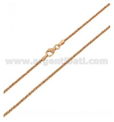 DISC CHAIN MM 1,8 CM 40 SILVER PLATED ROSE GOLD TIT 925 ‰