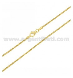 DISC CHAIN MM 1,8 CM 50 IN SILVER GOLD PLATED TIT 925 ‰