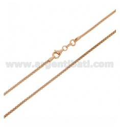 POP CORN CHAIN MM 1,6 ROSE GOLD PLATED CM 45 IN AG TIT 925 ‰