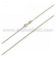 POLISHED CHAIN 1.4 MM IN RHODIUM-PLATED AG TIT 925 ‰ CM 60