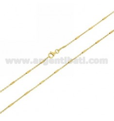 CABLE CHAIN WITH TUBE 18 MM DIAMOND IN AG GOLD PLATED TIT 925 ‰ CM 70