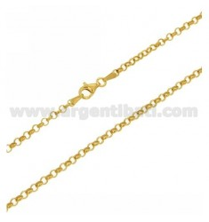 ROLO CHAIN 2.9 MM IN GOLD PLATED AG TIT 925 ‰ CM 80