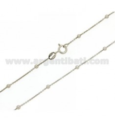 LACE BALL AND CHAIN 2.5 MM ALTERNATE PZ 2 SILVER RHODIUM TIT 925 ‰ CM 40