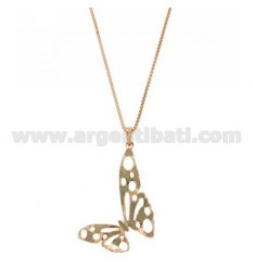 NECKLACE VENETIAN CM 70 CO BUTTERFLY SMALL BRONZE PLATED ROSE GOLD
