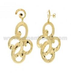 FANCY EARRINGS PENDANTS SMALL BRONZE GOLD PLATED