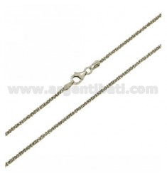 DISC CHAIN MM 1,8 CM 40 IN RHODIUM-PLATED SILVER 925 ‰
