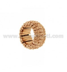 BRONZE RING ROSE GOLD PLATED