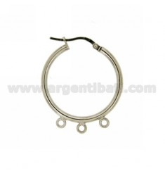 25 MM IN CIRCLES EARRINGS RHODIUM AG TIT 925 ‰