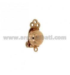 Ohrhaken CLIPS TRITT 10 mm Rose vergoldet AG TIT 925