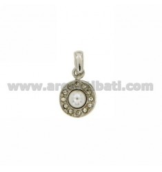 5 MM IN PEARL NECKLACE RHODIUM AG TIT 925 ‰ E STRASS