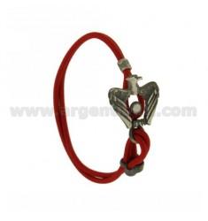 ELASTIC BRACELET RED EAGLE AG BRUNITO TIT 925