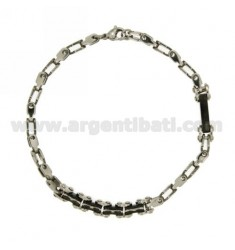 STAINLESS STEEL BRACELET WITH INSERTS centered CLAD RUTENIO