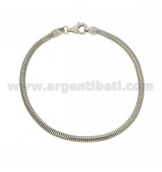BRACELET GAS PIPE DIAMETER 21 MM 3 CM SILVER RHODIUM TIT 925 ‰
