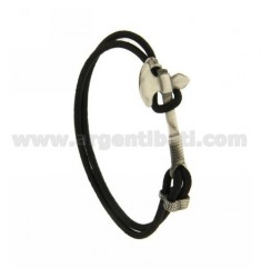Bangle Bracelet BLACK WITH AXE IN AG BRUNITO TITLE 925 ‰