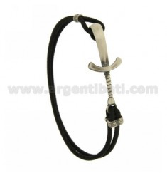 Bangle Bracelet BLACK WITH SABRE IN AG BRUNITO TITLE 925 ‰