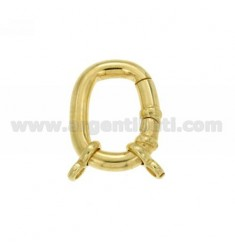 CLOSURE SMARTER RECTANGULAR 25x20 MM MM 4 BARREL WITH Ottini AG IN GOLD PLATED TIT 925 ‰