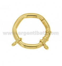CLOSURE SMARTER HEXAGON BARREL MM 30 MM WITH 4 Ottini AG IN GOLD PLATED TIT 925 ‰